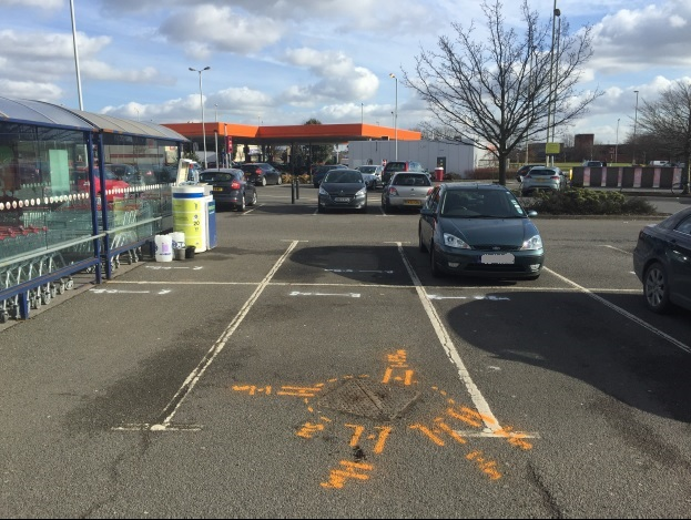 Utility Surveying mapping at Sainsbury's